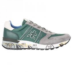 Sneakers Premiata Lander Homme vert-gris