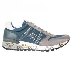 Sneakers Premiata Lander Homme bleu-gris