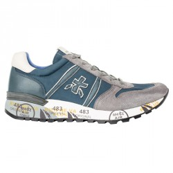 Sneakers Premiata Lander Man blue-grey