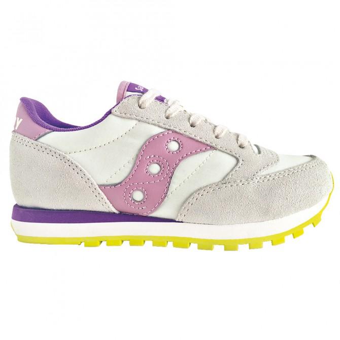 online retailer 63a1f 9eb14 Sneakers Saucony Jazz O' Bambina bianco-lilla (27-35)