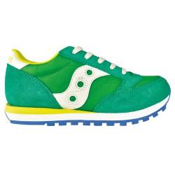Sneakers Saucony Jazz O' Bambino verde-giallo