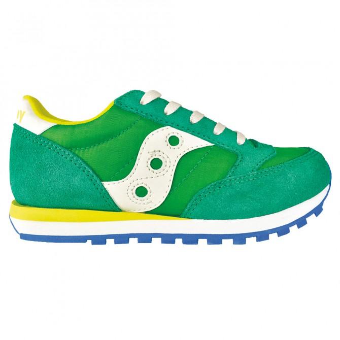 Sneakers Saucony Jazz O' Niño verde-amarillo (36-38)