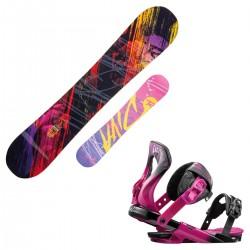snowboard Rossignol Diva Amptek + fijaciones Diva s/m