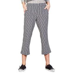 Pantalones Manila Grace Mujer negro-blanco