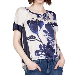 Blouse Manila Grace Woman blue-ivory