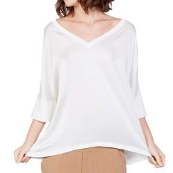 T-shirt Manila Grace Kimono Femme blanc