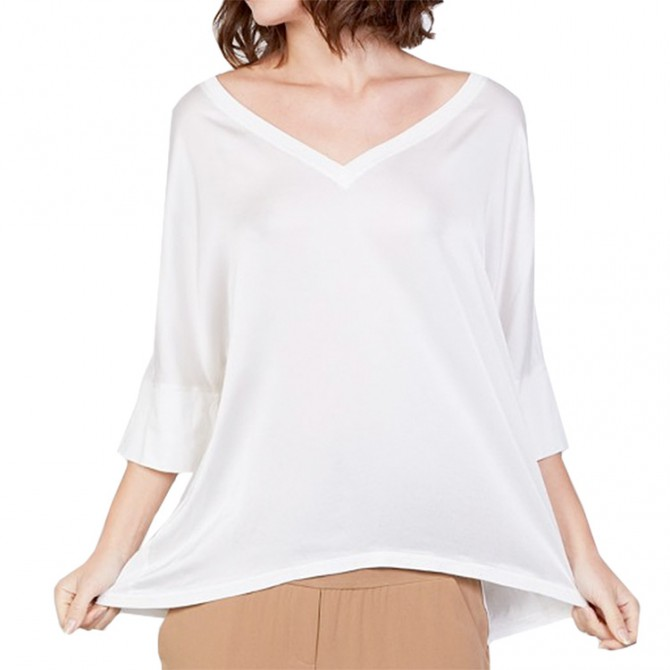 T-shirt Manila Grace Kimono Donna bianco
