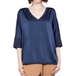 T-shirt Manila Grace Kimono Donna blu