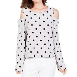Sweat-shirt Manila Grace Femme blanc-noir
