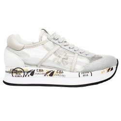 Sneakers Premiata Conny Mujer plata-gris