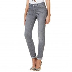 Jeans Liu-Jo Bottom Up Magnetic Femme gris