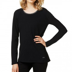 T-shirt Liu-Jo 2 Everyday mangas largas Mujer negro