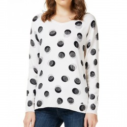 Pull Liu-Jo Black and White Shine Femme