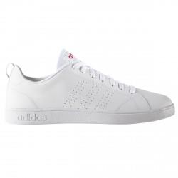 Sneakers Adidas VS Advantage Clean Donna bianco-rosso