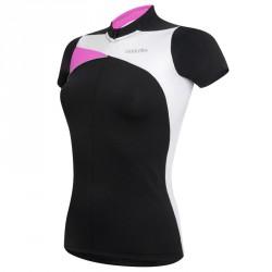 Camiseta ciclismo Zero Rh+ Trinity Mujer negro-fucsia