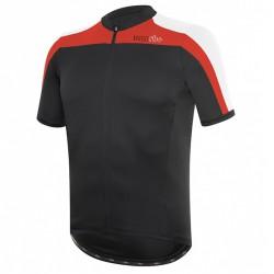 Camiseta ciclismo Zero Rh+ Space Hombre negro-rojo