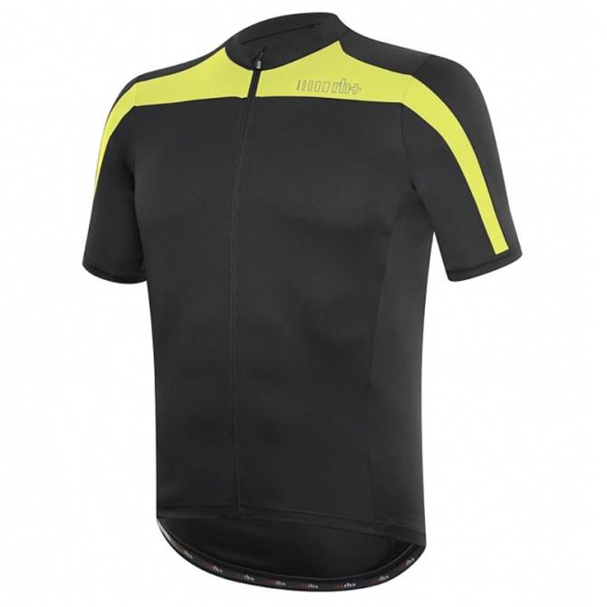 Camiseta ciclismo Zero Rh+ Space Hombre negro-amarillo