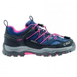 Trekking shoes Cmp Rigel Low Junior blue-fuchsia (38-41)