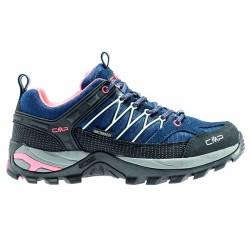 Zapato trekking Cmp Rigel Low Mujer azul-rosa