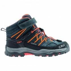 Zapato trekking Cmp Rigel Mid Junior azul-naranja (28-37)