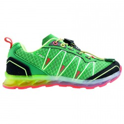 Zapato trail running Atlas Junior verde-rojo (25-32)