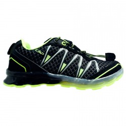 Chaussure trail running Atlas Junior noir-lime (25-32)