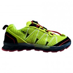 Zapato trail running Atlas Junior lime-negro-rojo (25-32)