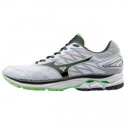 Chaussures running Mizuno Wave Rider 20 Homme blanc-vert