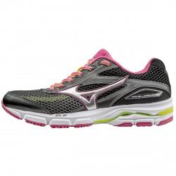 Scarpe running Mizuno Wave Legend nero-grigio-rosa