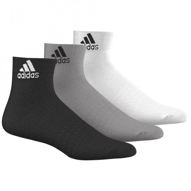 Calze Adidas Performance Ankle nero bianco grigio