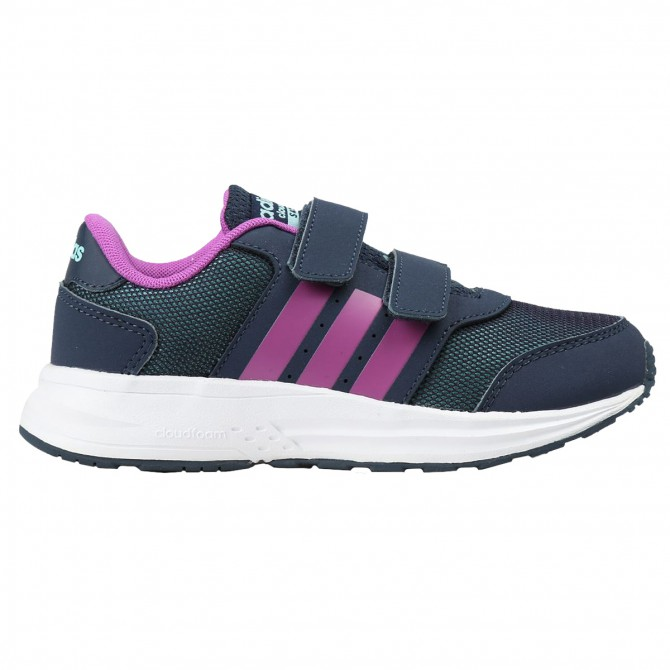 Scarpe ginnastica Adidas Cloudfoam Saturn Cmf C Bambina blu-viola ADIDAS Scarpe sportive