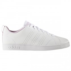 Sneakers Adidas VS Advantage Clean Bambina bianco-rosa