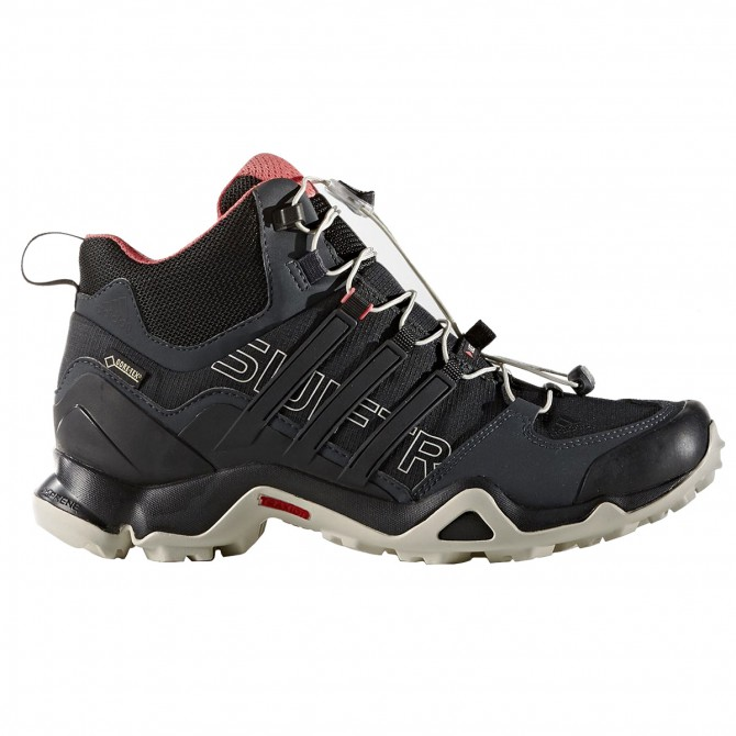 Pedule trekking Adidas Terrex Swift Gtx Mid Donna nero-bianco ADIDAS Trekking Mid