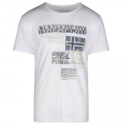 T-shirt Napapijri Sepik Hombre blanco