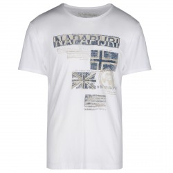 T-shirt Napapijri Sepik Uomo bianco