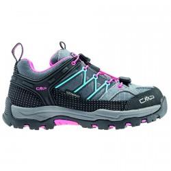 Zapato trekking Cmp Rigel Low Junior gris-fucsia-azul claro (38-41)