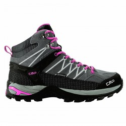 Trekking shoes Cmp Rigel Mid Woman grey-fuchsia