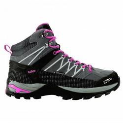 Zapato trekking Cmp Rigel Mid Mujer gris-fucsia