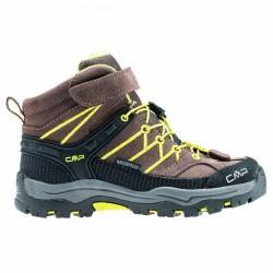 Zapato trekking Cmp Rigel Mid Junior marrón-lime (38-41)