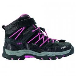 Zapato trekking Cmp Rigel Mid Junior negro-fucsia (38-41)