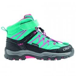 Zapato trekking Cmp Rigel Mid Junior verde agua-fucsia (38-41)