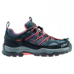Chaussure trekking Cmp Rigel Low Junior gris-orange (30-37)