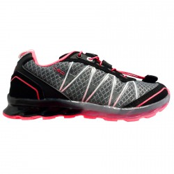 Zapato trail running Atlas Junior gris-fucsia (25-32)