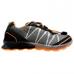Chaussure trail running Atlas Junior gris-orange (33-39)
