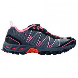 Chaussure trail running Atlas Femme noir-fuchsia