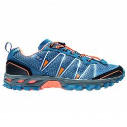 Chaussure trail running Atlas Homme bleu-orange