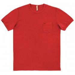 T-shirt Sun68 Round Uomo rosso