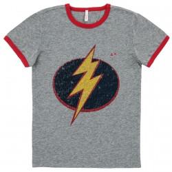 T-shirt Sun68 Hero Garçon gris (4-8 ans)