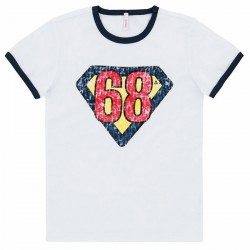 T-shirt Sun68 Hero Junior white (8-10 years)