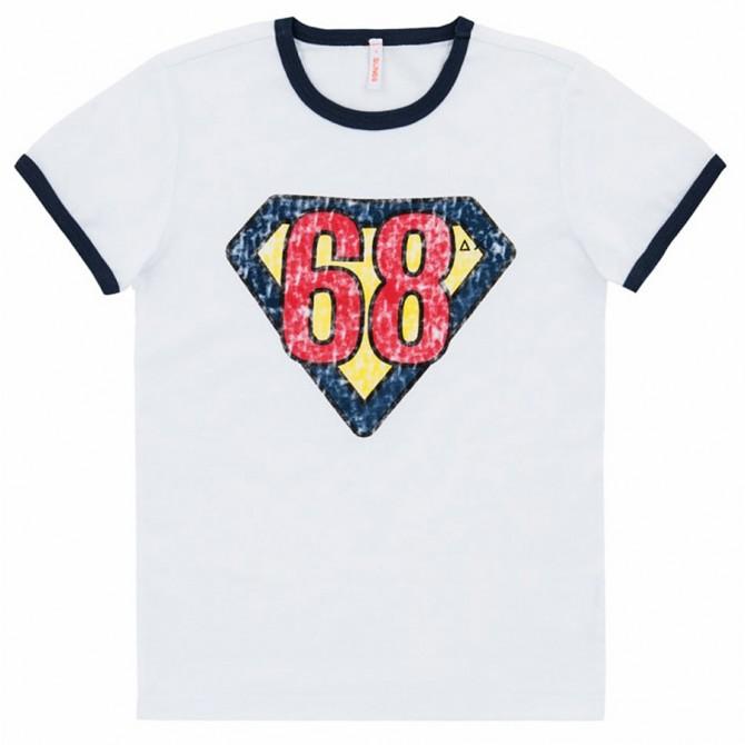 T-shirt Sun68 Hero bianco-navy-rosso